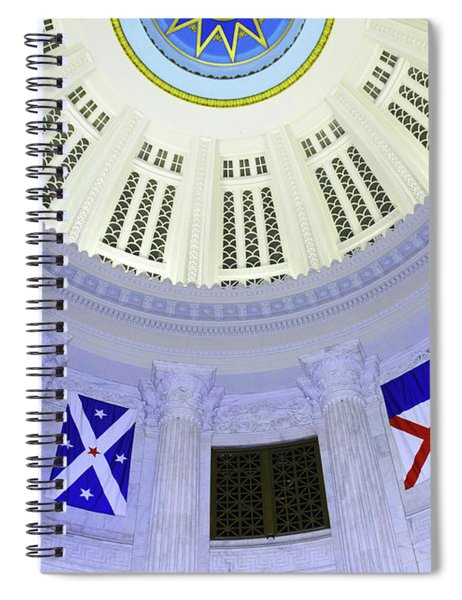 Immagration Flags On Rotundra  Spiral Notebook