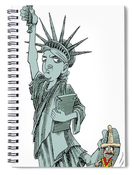 Immigration And Liberty Spiral Notebook