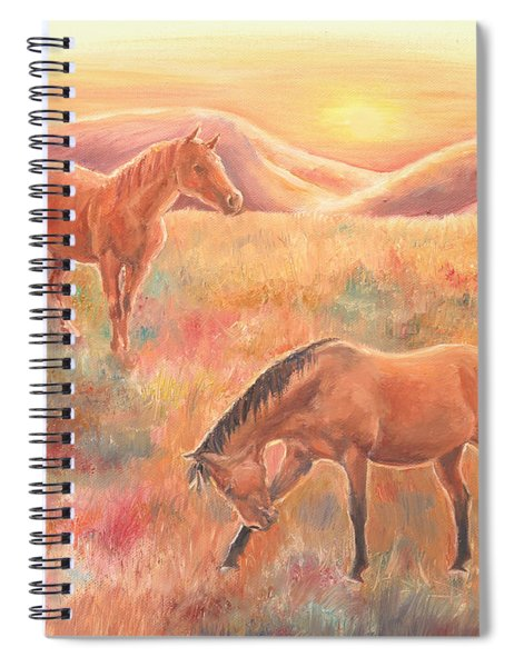 Impressions At Sunset Spiral Notebook
