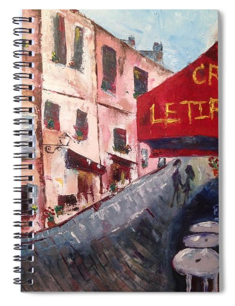 Impressions Of A French Cafe Spiral Notebook