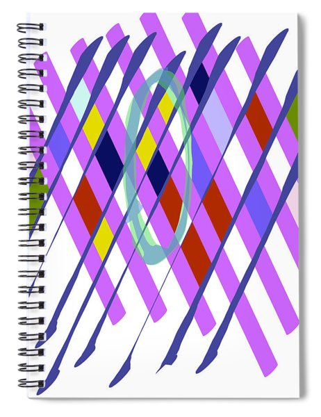 Improvised Geometry #1 Spiral Notebook