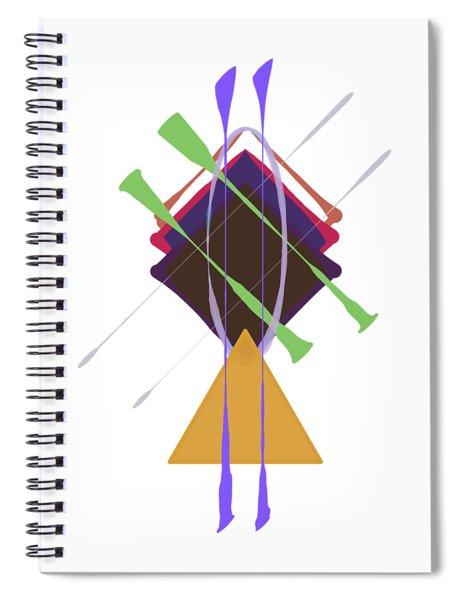 Improvised Geometry #3 Spiral Notebook