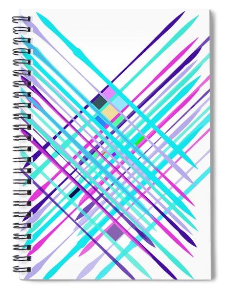 Improvised Geometry #2 Spiral Notebook