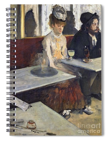 In A Cafe Spiral Notebook by Edgar Degas