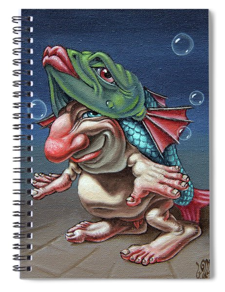 In A Fish Suit. Spiral Notebook