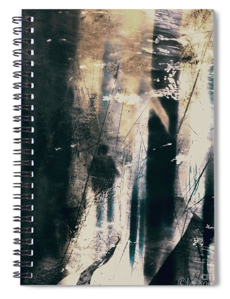 In A Yellow Wood Spiral Notebook