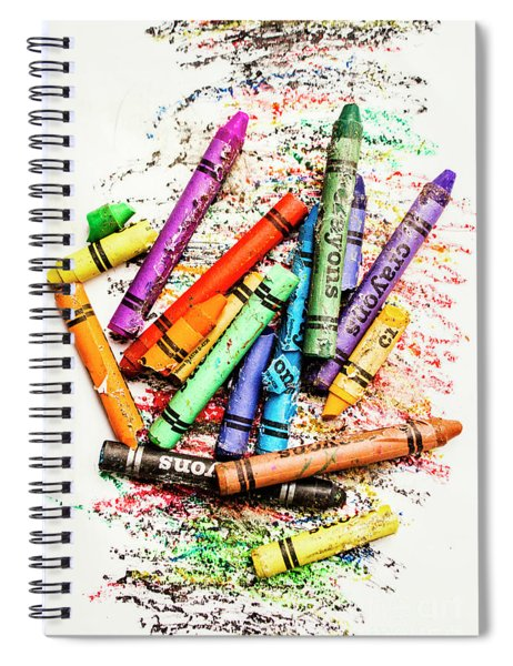 In Colours Of Broken Crayons Spiral Notebook