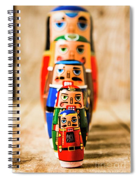 In Figurative Scale Spiral Notebook