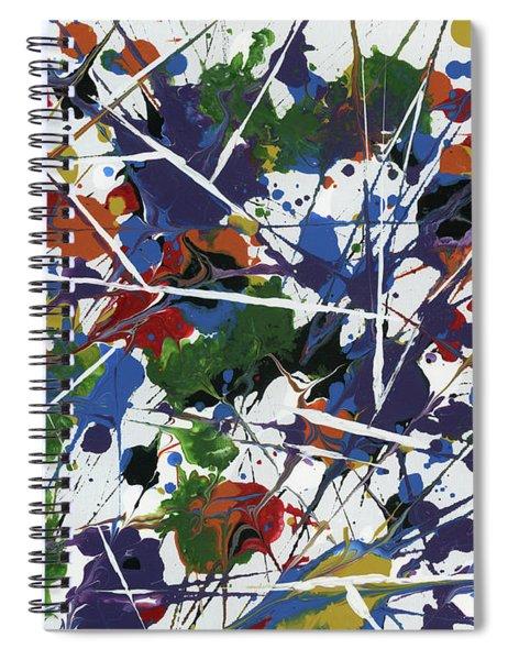 In Glittering Rainbow Shards Spiral Notebook
