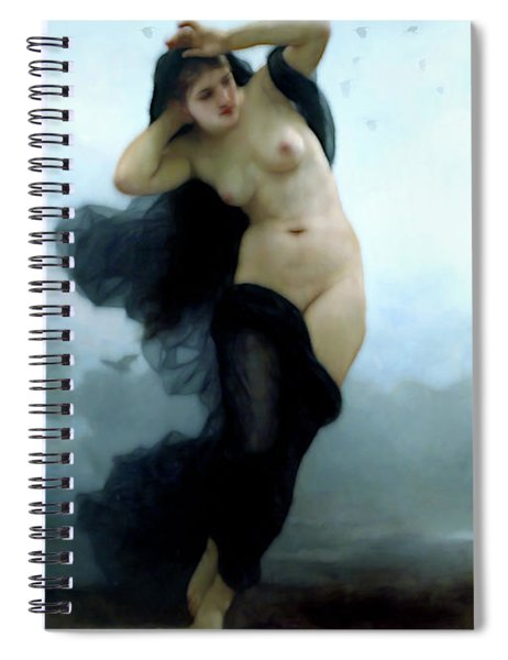 In Her Dreams She Flees The Night Spiral Notebook