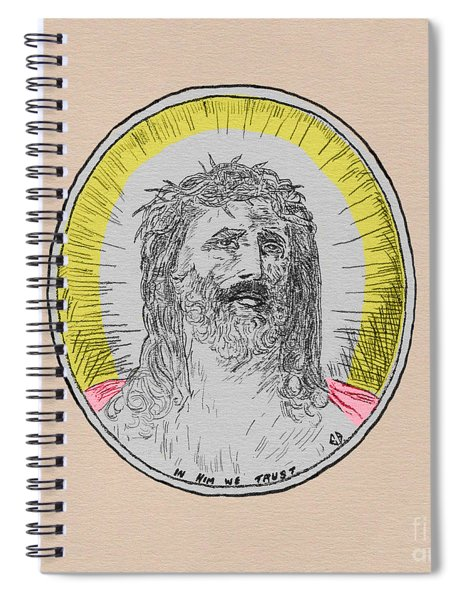 In Him We Trust Colorized Spiral Notebook