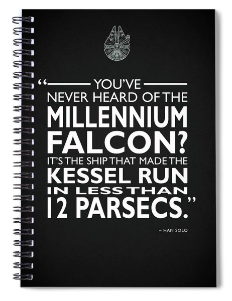 In Less Than 12 Parsecs Spiral Notebook