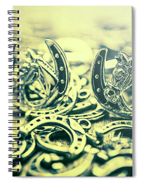 In Luck Of The Horse Race Spiral Notebook