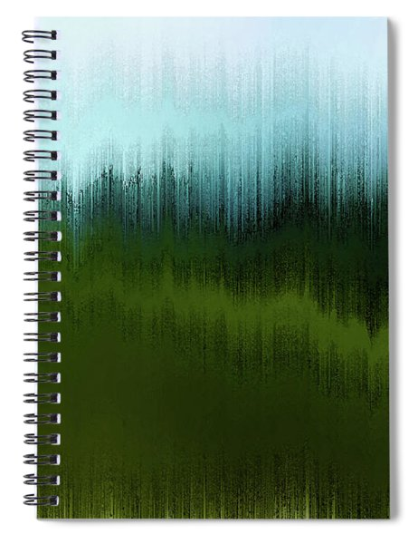 Spiral Notebook featuring the digital art In The Black Forest by Gina Harrison