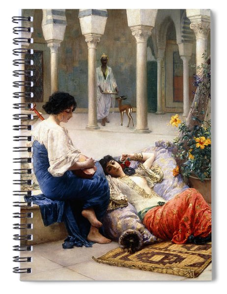 In The Courtyard Of The Harem Spiral Notebook