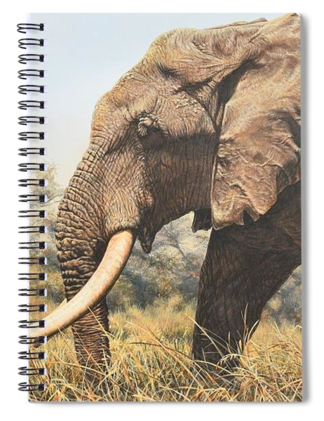 Spiral Notebook featuring the painting In The Footsteps Of Elders by Alan M Hunt