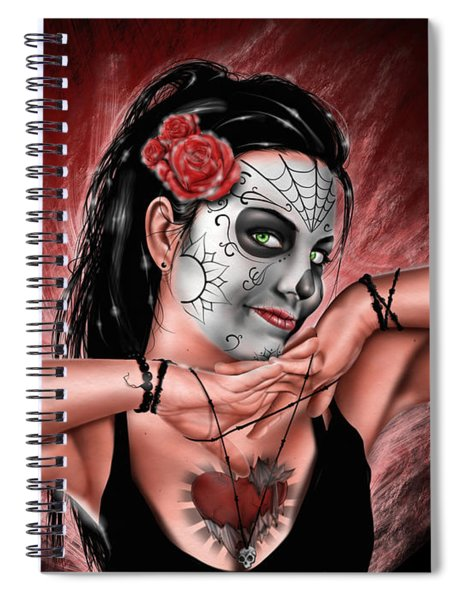 In The Hands Of Death Spiral Notebook