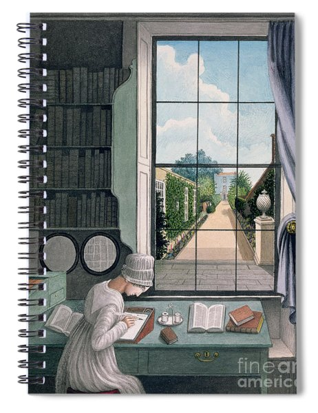 In The Library, St. James' Square Spiral Notebook