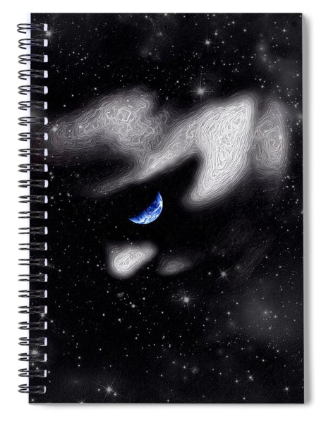 Spiral Notebook featuring the digital art In The Quiet Of Your Mind by ISAW Company
