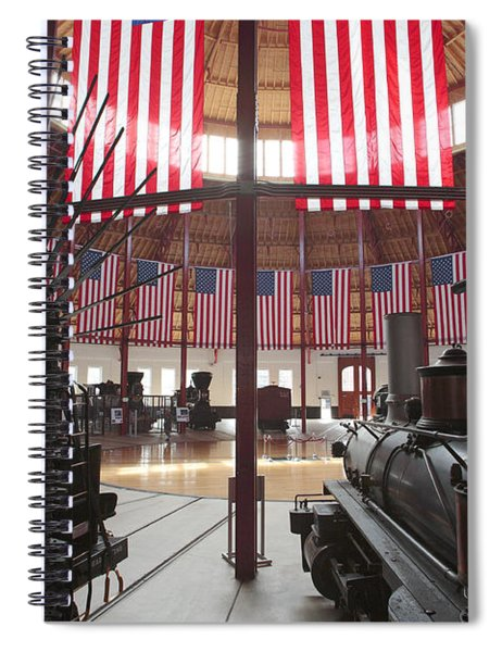 In The Roundhouse At The B And O Railroad Museum In Baltimore Spiral Notebook