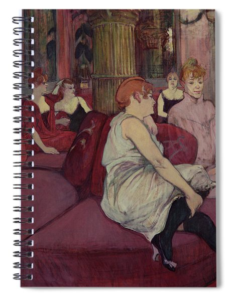 In The Salon At The Rue Des Moulins Spiral Notebook