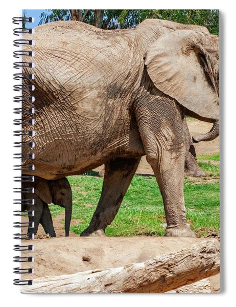 In The Shadow Of Mom Spiral Notebook