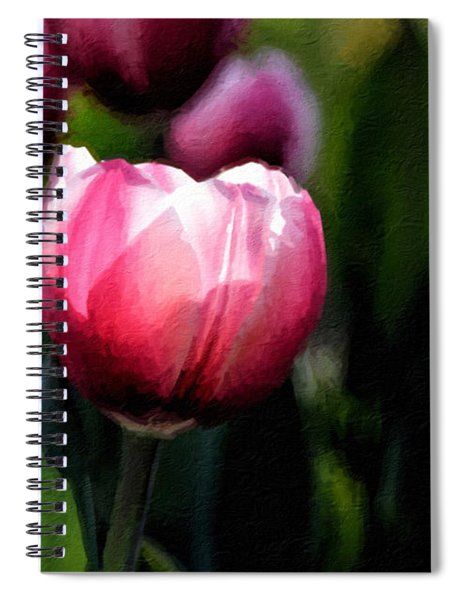 Spiral Notebook featuring the photograph In The Spotlight by Andrea Platt