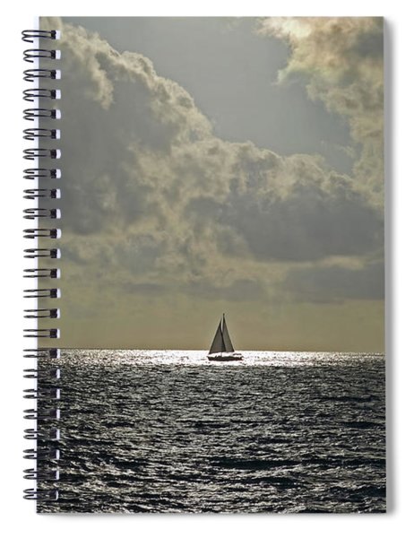 In The Spotlight. Sailboat Sailing In Naples Fl Spiral Notebook