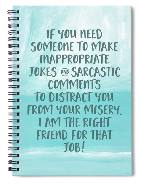 Inappopriate Jokes- Empathy Card By Linda Woods Spiral Notebook
