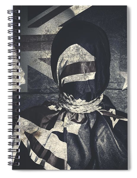 Inauspicious The Tale Of A Defaced Democracy Spiral Notebook