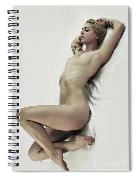 Inclined Nude Spiral Notebook