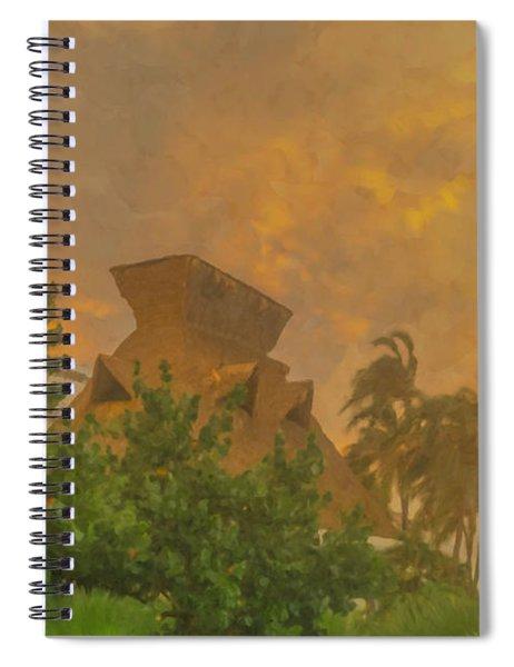 Incoming Storm On Playa Diamante Acapulco Spiral Notebook