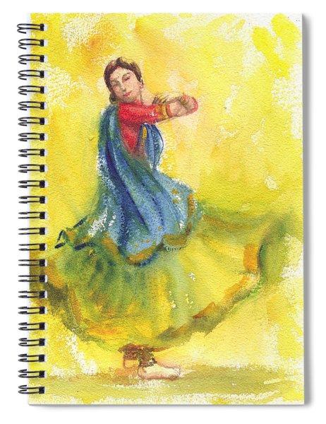 Indian Dancer Spiral Notebook