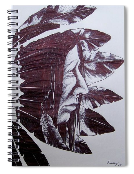 Indian Feathers Spiral Notebook
