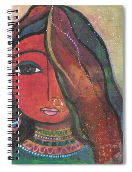 Indian Girl With Nose Ring Spiral Notebook