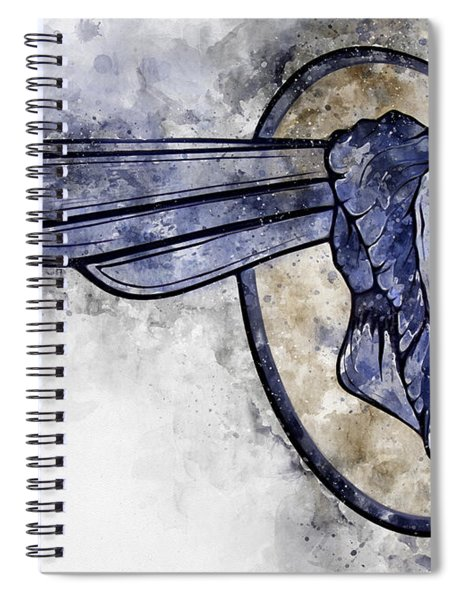 Indian Head Watercolor Spiral Notebook