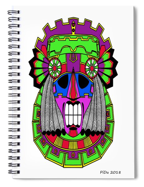 Indian Mask Spiral Notebook