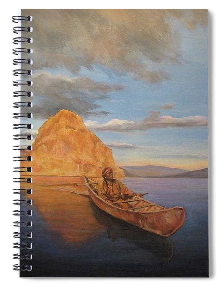 Indian On Lake Pyramid Spiral Notebook