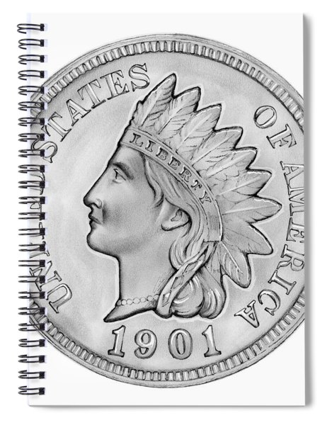 Indian Penny Spiral Notebook