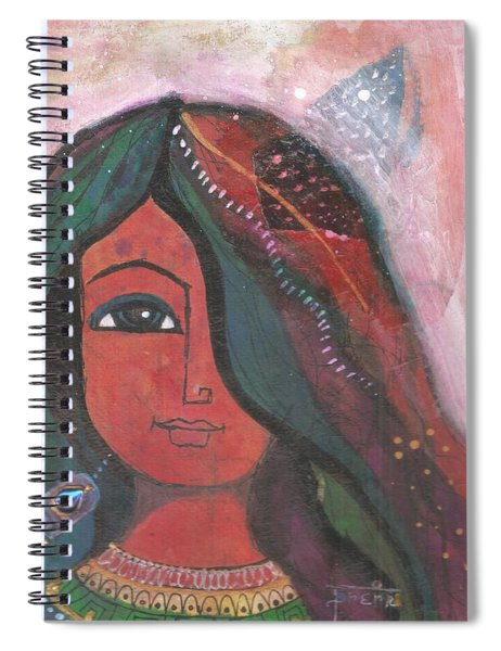 Indian Rajasthani Woman Spiral Notebook
