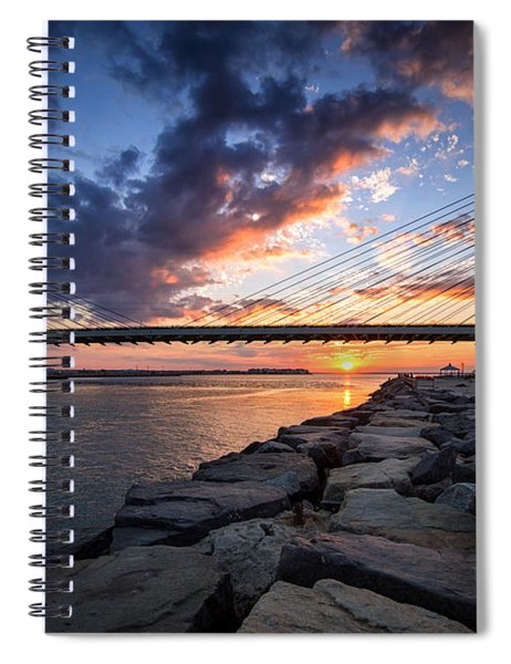 Indian River Inlet And Bay Sunset Spiral Notebook