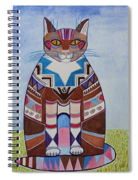 Indian Squirrel Cat Spiral Notebook