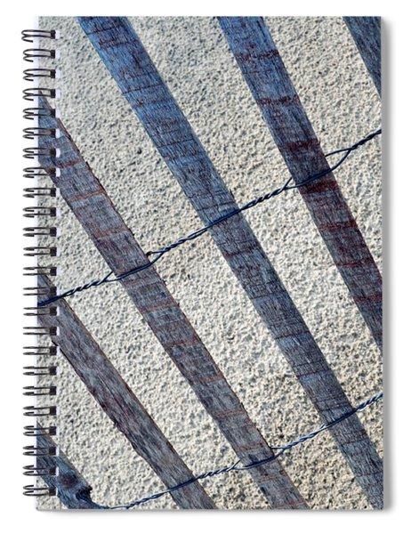 Indiana Dunes Beach Fence Spiral Notebook