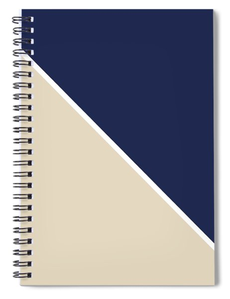 Indigo And Sand Geometric Spiral Notebook