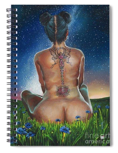 Indigo Blue Spiral Notebook by Baroquen Krafts