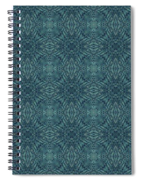 Indigo Diamond Cross Pattern 24in Spiral Notebook