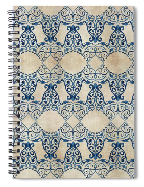 Indigo Ocean - Caribbean Inspired Watercolor Swirl Pattern Spiral Notebook