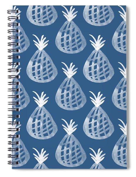 Indigo Pineapple Party Spiral Notebook