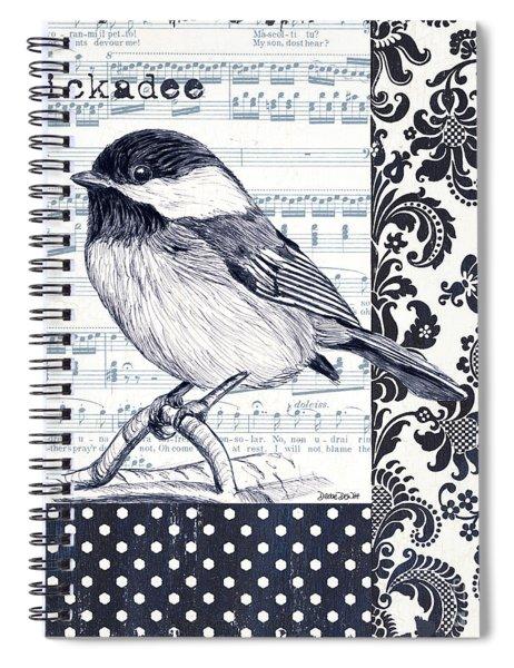 Indigo Vintage Songbird 2 Spiral Notebook