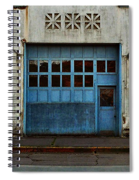 Industrial Blue Spiral Notebook